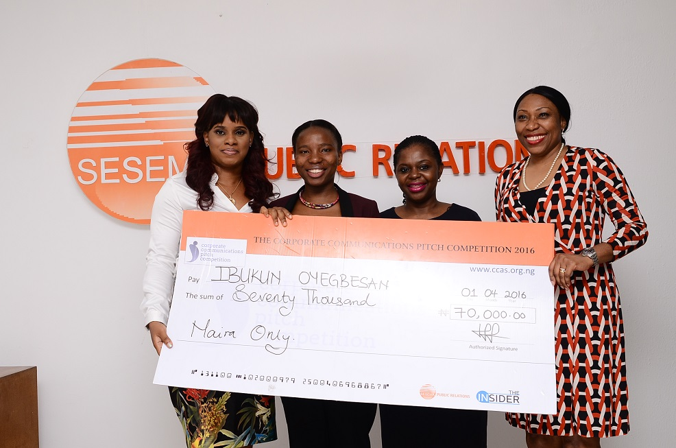 02-Tampiri Irimagha Akemu_ MD Sesema PR, Ibukun Oyegbesan_ first runner up of CCPC, Sade Onyia_ Management consultant and Habiba Balogun_ CEO HB Consulting during the presentation ceremony