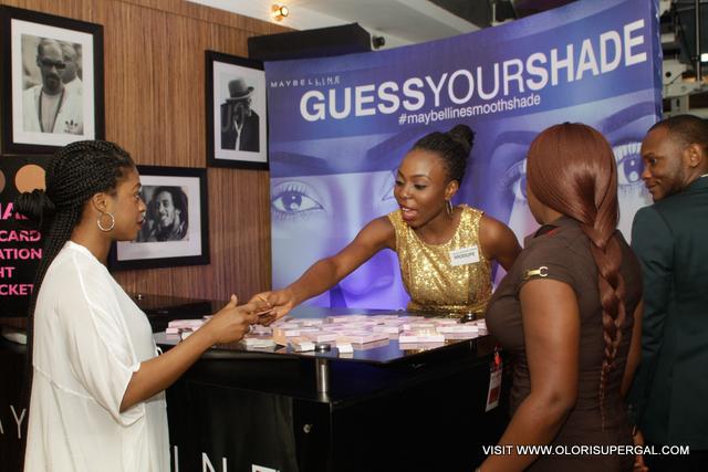 Folake Folarin Coker of Tiffany Amber guessing her shade