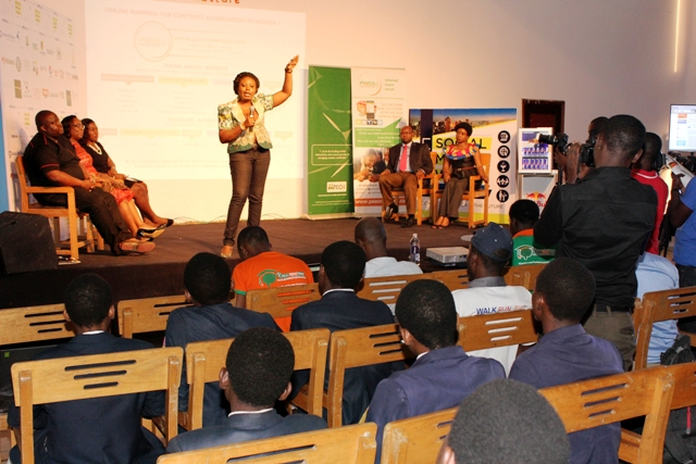 Toyosi Akerele, Project Director speaking at the Event