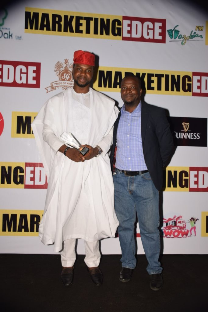 Adebola Williams, Founding Partner, RED_ Anietie Udoh, GM,Marketing Edge Magazine