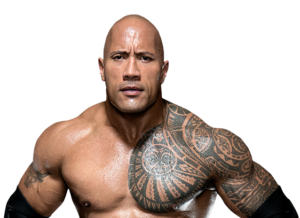 American actor and former wrester The Rock
