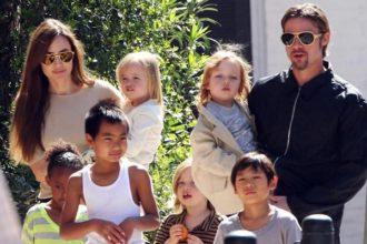 Brad Pitt, Angelina Jolie and the children