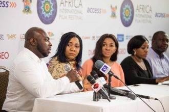 Mykel Parish, President African Film Consortium,Chioma Onyenwe, Head, Programmes_ Chioma Ude, Founder and Executive Director of AFRIFF_ Afie Braimoh, Operations Director and Julian Nwagboniwe, Technical Director