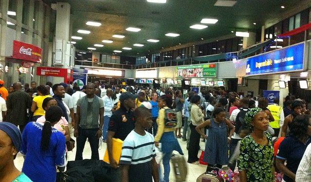 Long Queues at Nigerian Airports