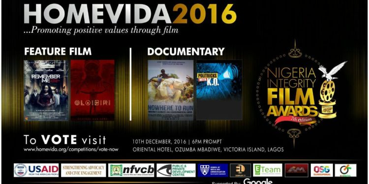 Vote for your favourite Feature Film and Documentary to win N1,000,000 each in the 2016 Homevida Awards