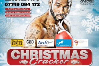 Larry 'The Natural' Ekundayo to be back in action Friday 9th December 2016 in 'Christmas Cracker' Sporting event