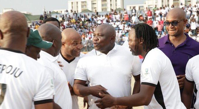 Ambode, Victor Ikpeba, Ehis and Dbanj Flag-Off 2016 Lagos Beach Soccer
