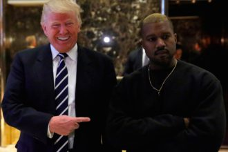 kanye west with donald trump