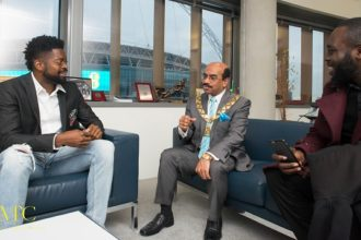 Basketmouth meets Mayor of London