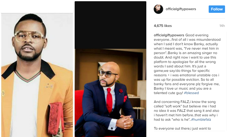 banky w aepts gifty apology
