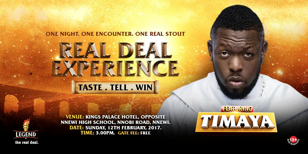 Timaya To Kick Off 2017 Legend Real Deal Experience