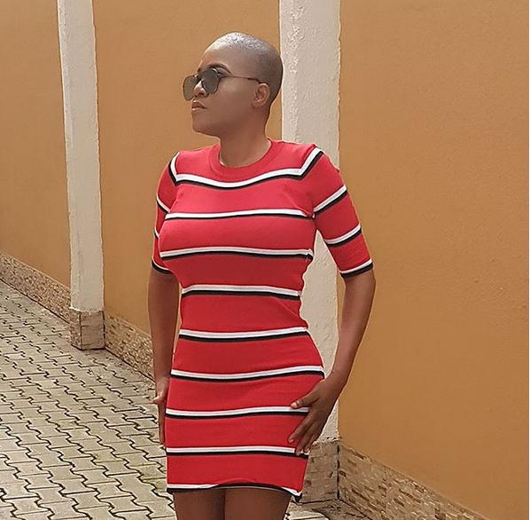 Toyin abraham bald look