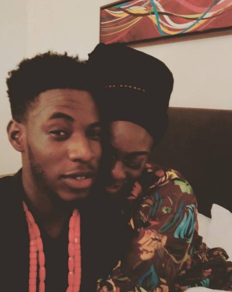 Former Big Brother Naija Housemates Soma And Uriel Shares Loveup Photo