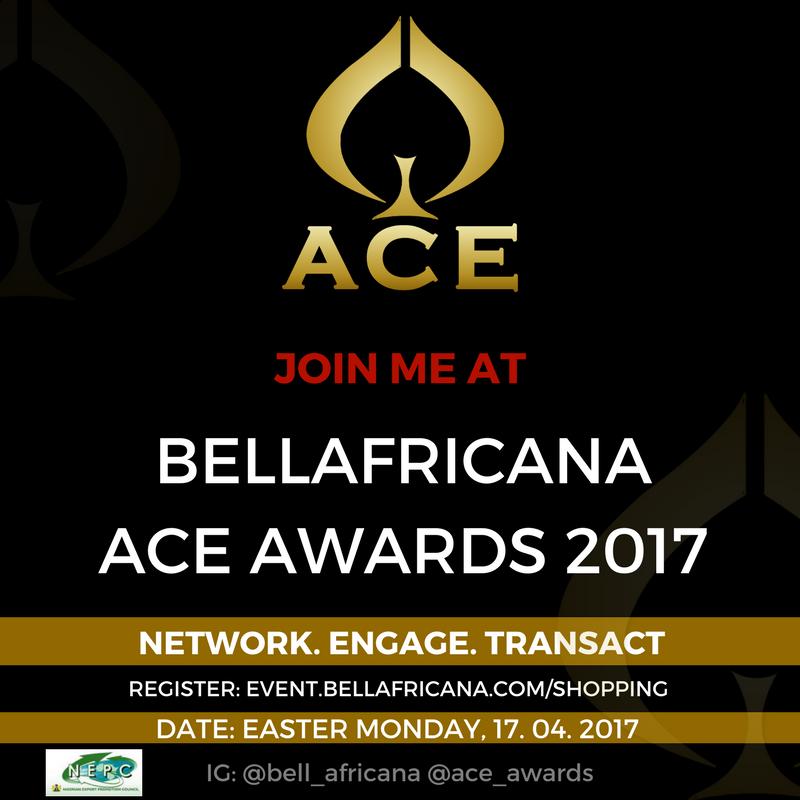 Bellafricana ACE Awards invitation