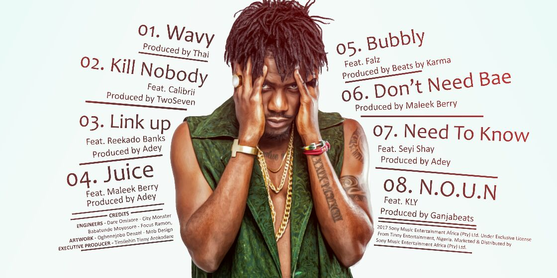 """Ycee Tracklist For His Debut EP Titled """"The First Wave"""""""