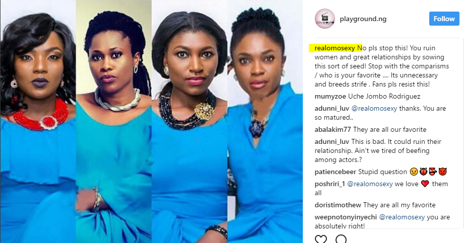Stop Comparing Celebrities To One Another -Actress Omotola Warns