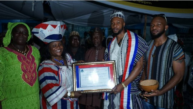 flavour honoured with cheiftancy title in liberia
