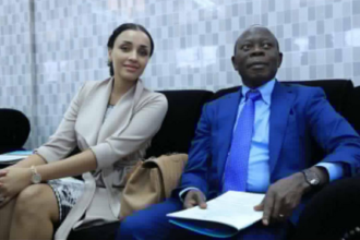 Lara Oshiomole and husband