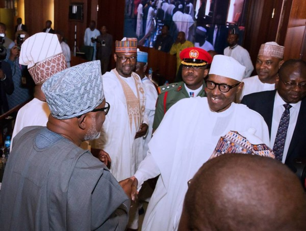 President Buhari meet with state governors - olorisupergal