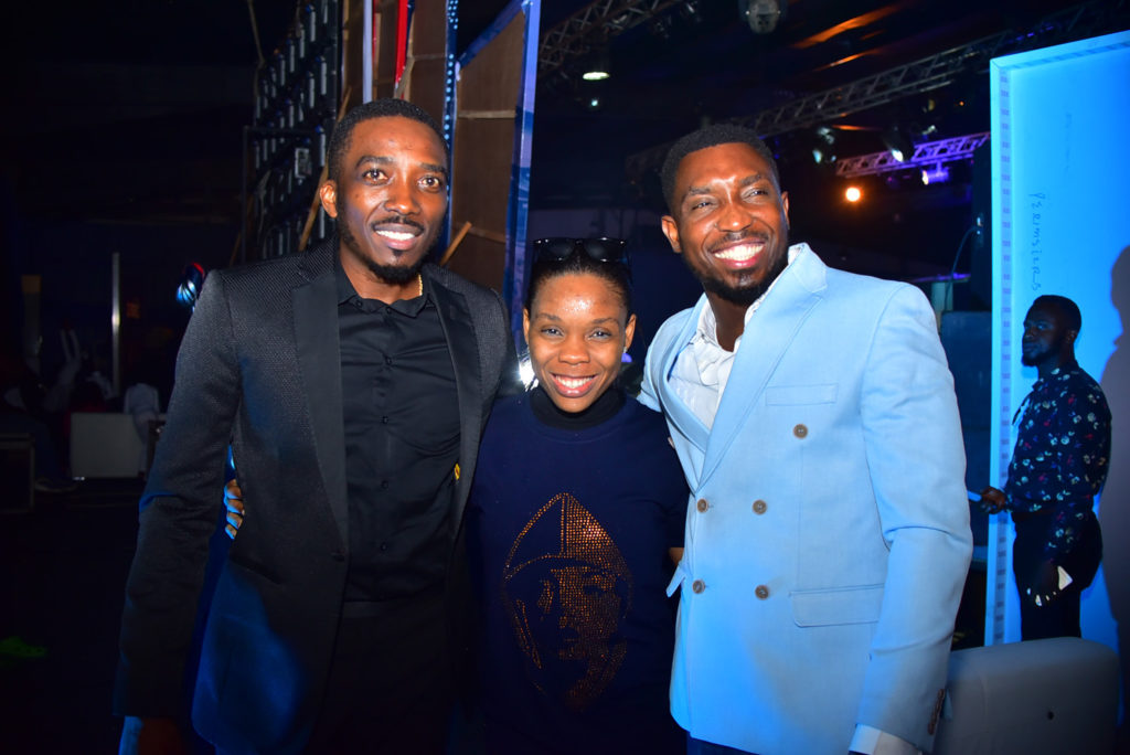 Bovi, Kaffy and Timi Dakolo at the Interswitch Connect Gala Night