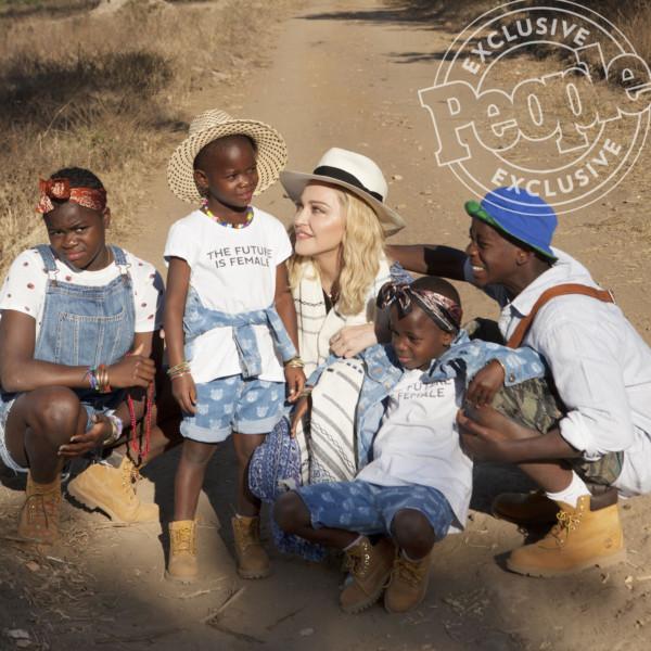 Madonna and her kids - OLORISUPERGAL