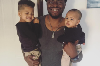 Tayo Faniran and his kids - OLORISUPERGAL