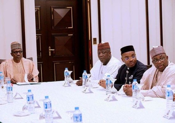 President buhari with state governors - OLORISUPERGAL