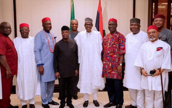 President Buhari with South East Leaders - OLORISUPERGAL