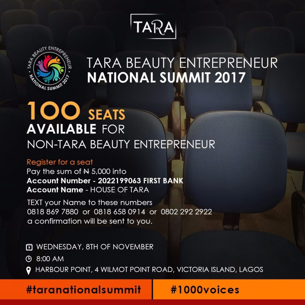 House of Tara National Beauty Entrepreneur National Summit 2017.