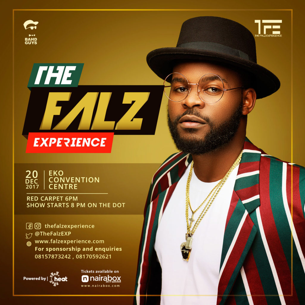 Falz announces first ever concert The Falz Exeperience