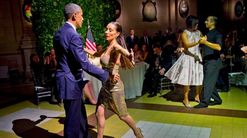 Barack and Michelle In Argentina
