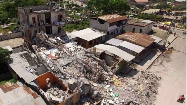 Buildings demolished in deadly quake
