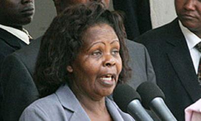 Former first lady, Lucy Kibaki
