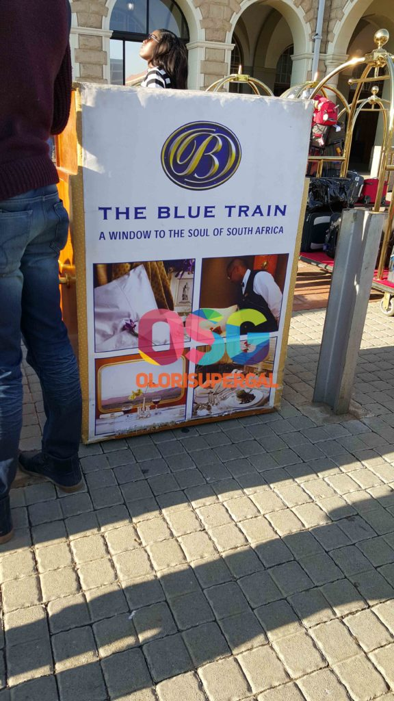 AT THE BLUE TRAIN STATION IN PRETORIA