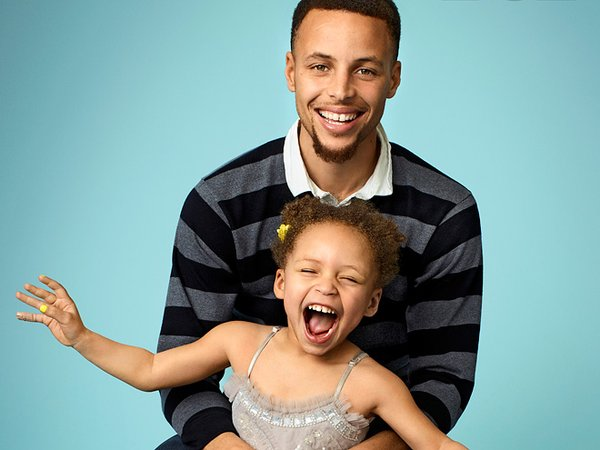 Steph Curry and daughter Riley Curry