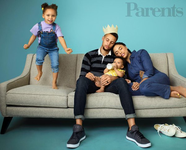 Steoh Curry and his family