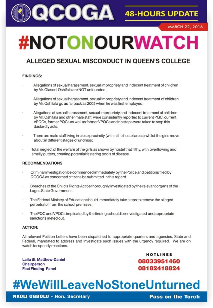 queens college panel report
